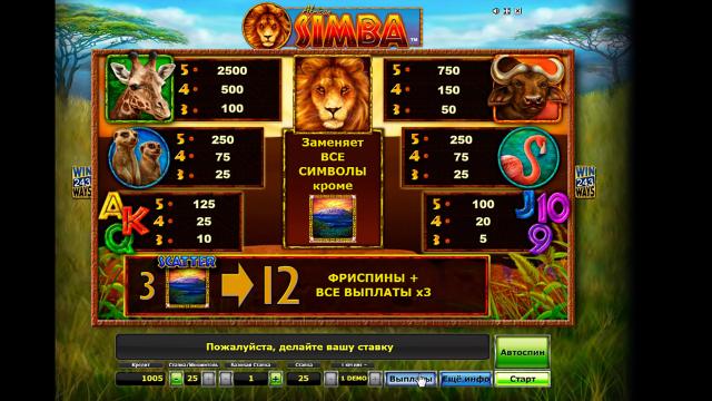 Игровой интерфейс African Simba 5