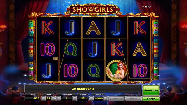 Игровой интерфейс Showgirls 4