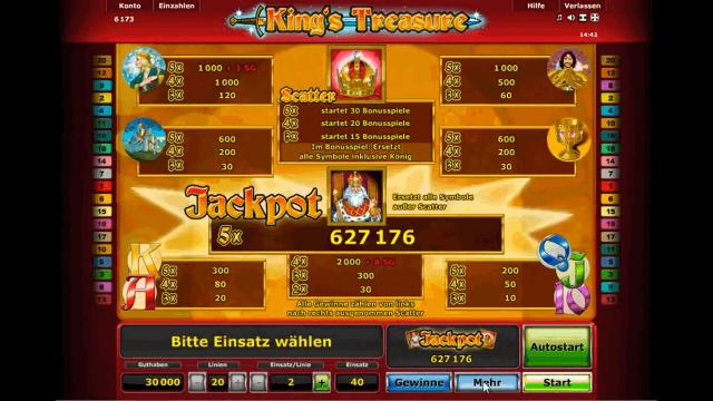 Игровой интерфейс King's Treasure 1