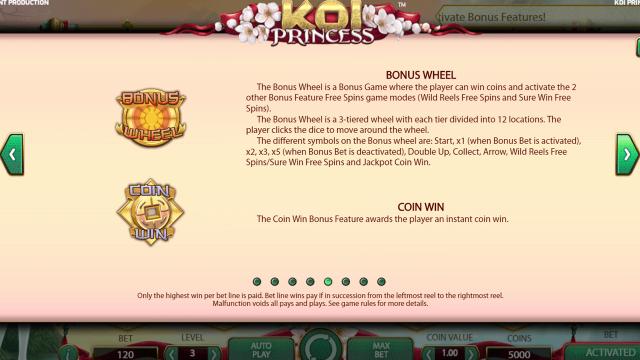 Характеристики слота Koi Princess 5