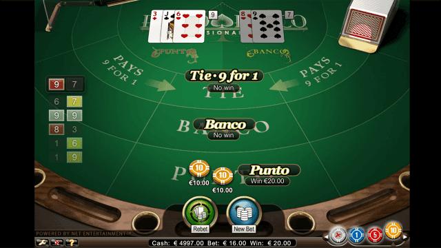 Характеристики слота Punto Banco Professional Series 8