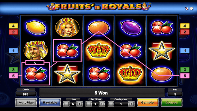 Бонусная игра Fruits And Royals 8