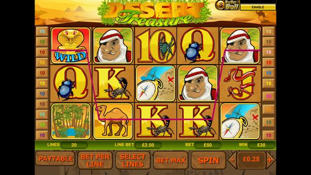 Характеристики слота Desert Treasure 9