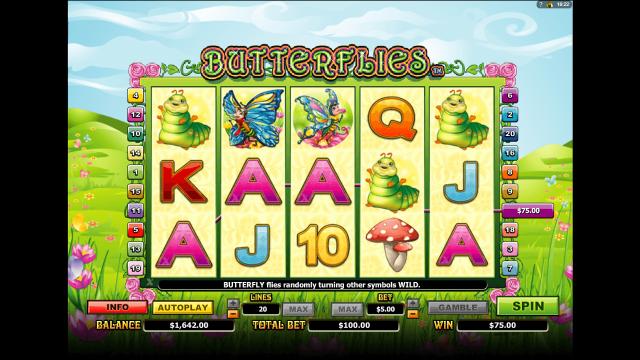 Игровой интерфейс Butterflies 10