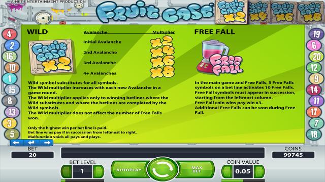 Игровой интерфейс Fruit Case 2