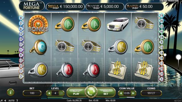 Характеристики слота Mega Fortune 10