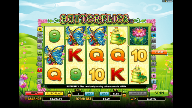 Игровой интерфейс Butterflies 9
