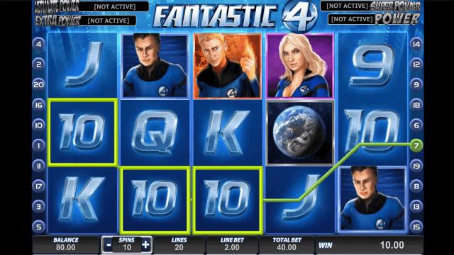 Игровой интерфейс Fantastic Four 9