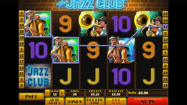 Бонусная игра The Jazz Club 9
