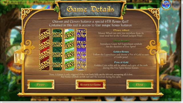 Бонусная игра Charms And Clovers 3