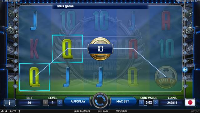 Игровой интерфейс Football Champions Cup 8