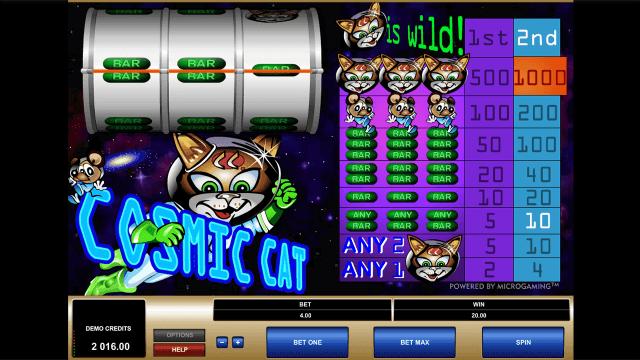 Бонусная игра Cosmic Cat 2