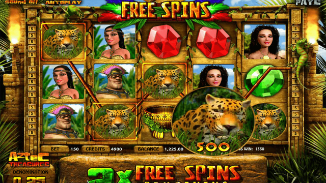 Игровой интерфейс Aztec Treasures 3D 8