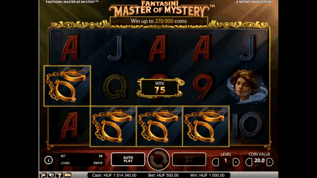 Характеристики слота Fantasini: Master Of Mystery 8