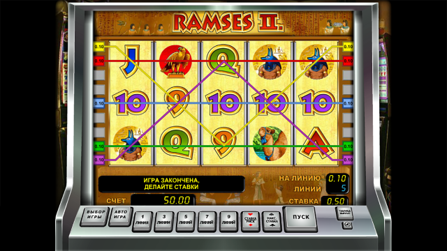 Характеристики слота Ramses II 3