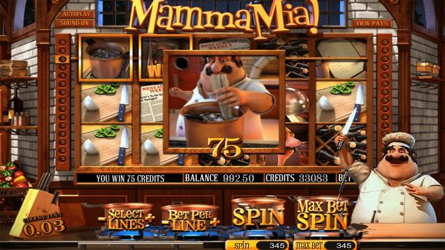 Игровой интерфейс Mamma Mia 2