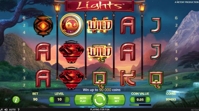 Игровой интерфейс Lights 10