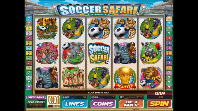 Игровой интерфейс Soccer Safari 1