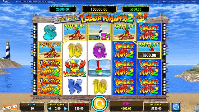 Игровой интерфейс Lucky Larry's Lobstermania 2 3