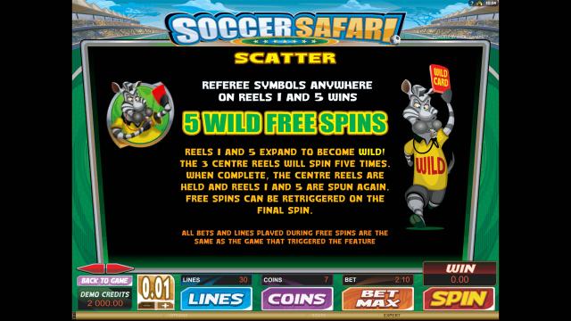 Бонусная игра Soccer Safari 3