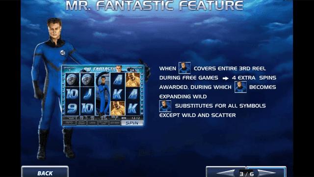 Характеристики слота Fantastic Four 4