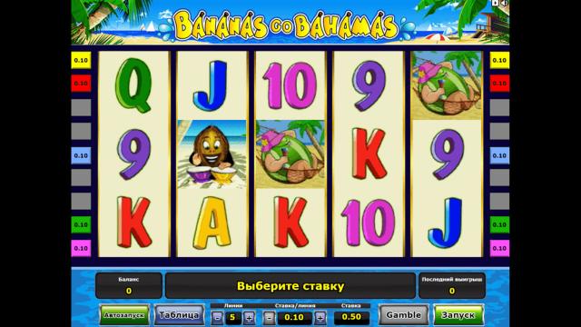 Характеристики слота Bananas Go Bahamas 6