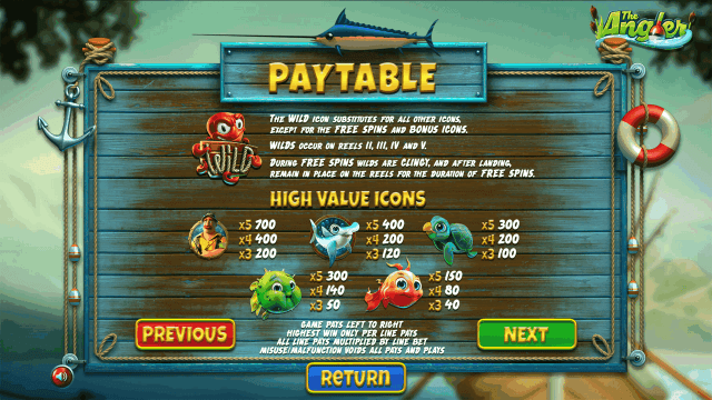Бонусная игра The Angler 9