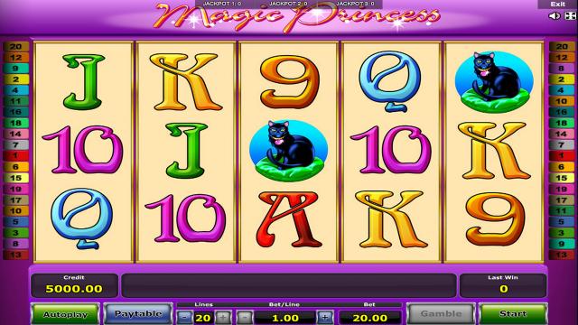 Игровой интерфейс Magic Princess 1
