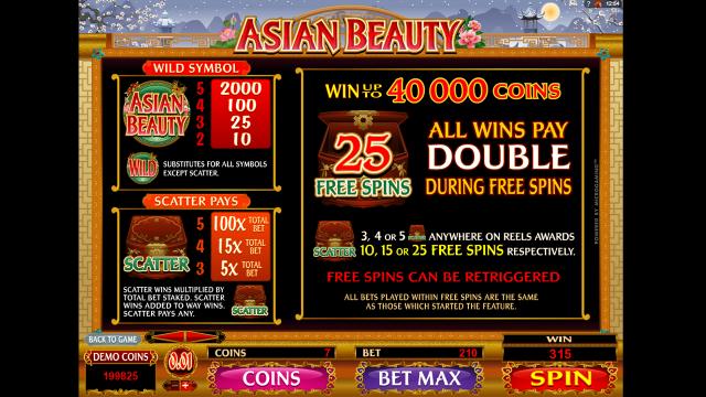 Игровой интерфейс Asian Beauty 1