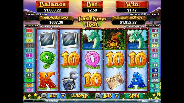 Бонусная игра Loch Ness Loot 9