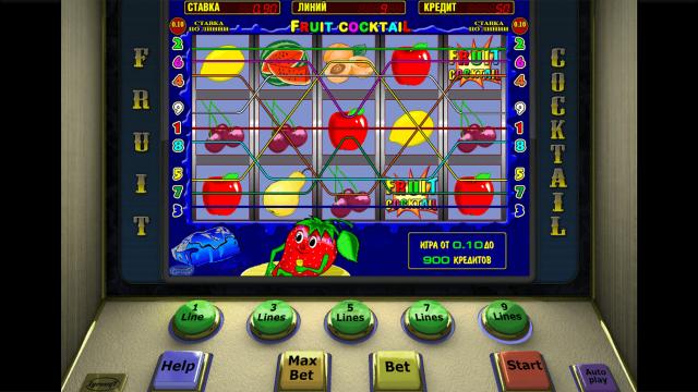 Игровой интерфейс Fruit Cocktail 1
