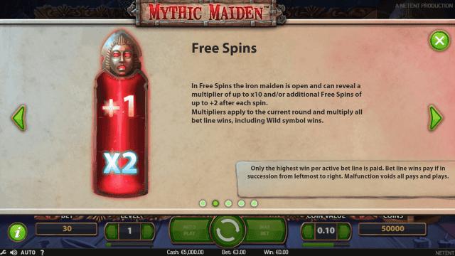 Игровой интерфейс Mythic Maiden 2