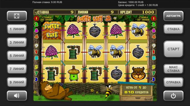 Игровой интерфейс Sweet Life 2 1
