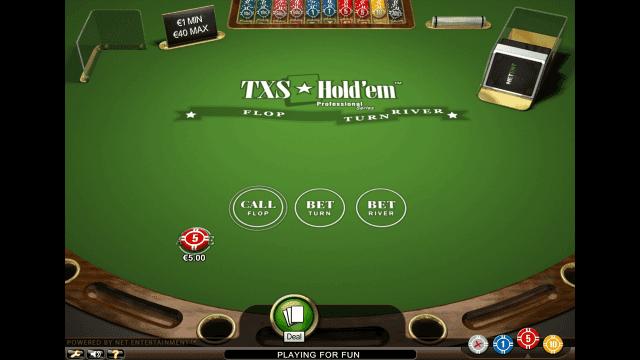Характеристики слота TXS Hold'em Pro Series 3