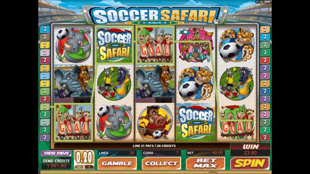 Характеристики слота Soccer Safari 6