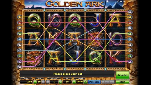 Характеристики слота Golden Ark 7