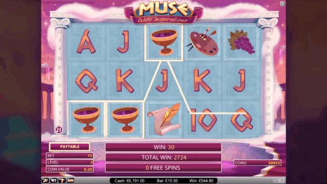 Характеристики слота Muse 10