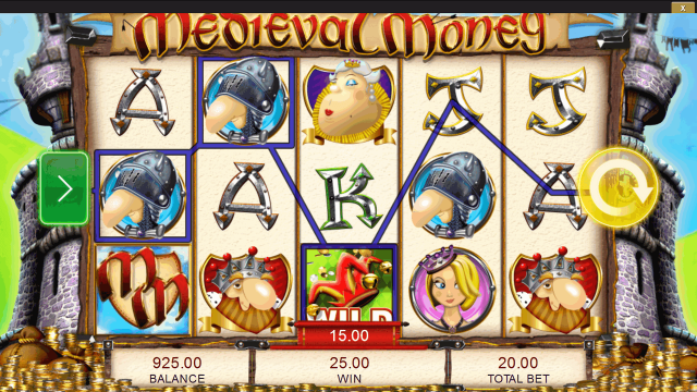 Игровой интерфейс Medieval Money 1