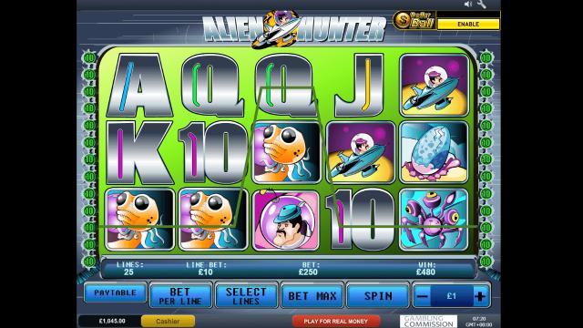 Игровой интерфейс Alien Hunter 5
