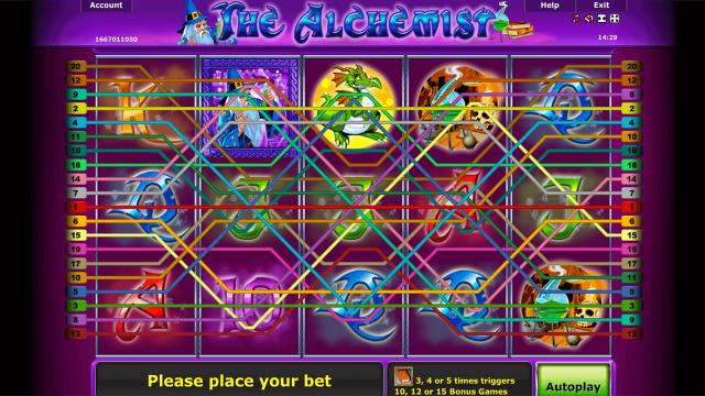 Характеристики слота The Alchemist 6