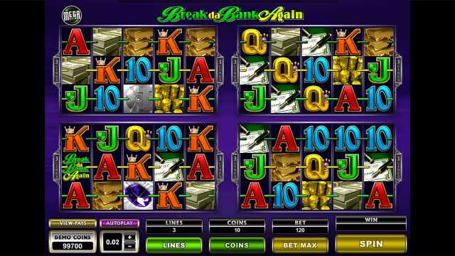 Бонусная игра Mega Spins Break Da Bank Again 9