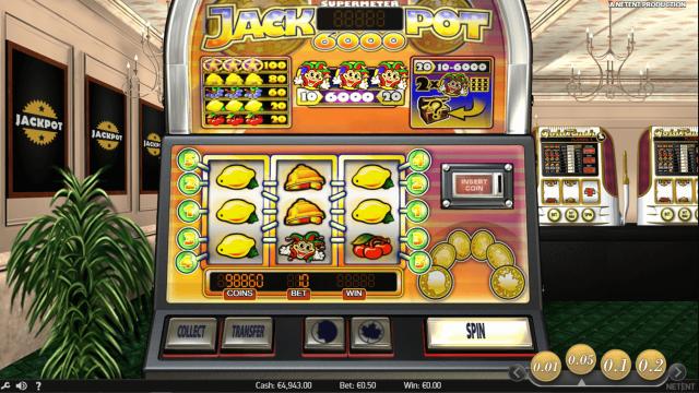 Игровой интерфейс Jackpot 6000 7