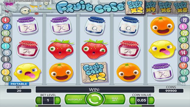Игровой интерфейс Fruit Case 9