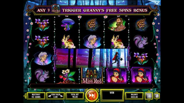 Игровой интерфейс Miss Red 3