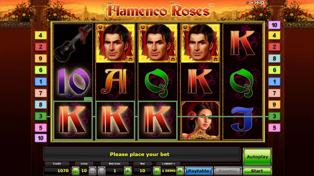 Бонусная игра Flamenco Roses 3