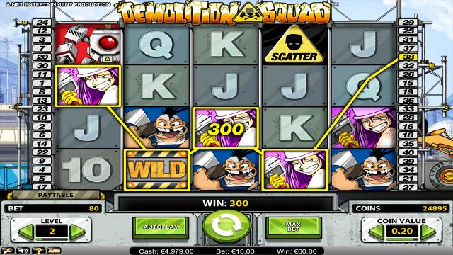 Характеристики слота Demolition Squad 6