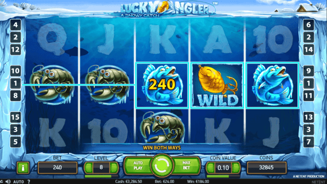 Характеристики слота Lucky Angler: A Snowy Catch 9