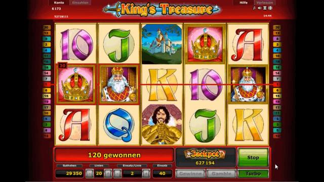 Характеристики слота King's Treasure 8