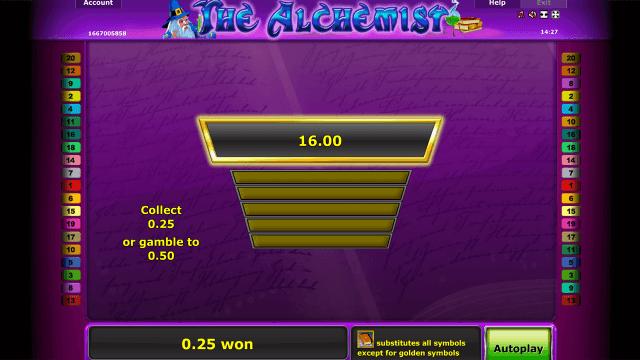 Характеристики слота The Alchemist 3