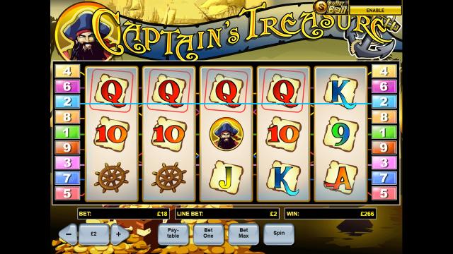 Бонусная игра Captain's Treasure 4